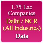 2.78 Lac Companies From Delhi / NCR (Delhi, Noida, Greater Noida, Ghaziabad, Meerut, Rohtak, Gurgaon, Faridabad, Manesar Etc.) Related To All Trades / Industries - In Excel Format