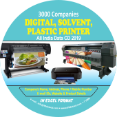 3,000 Digital, Solvent, Plastic  Printers Data - In Excel Format
