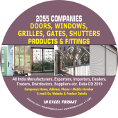 2,055 Doors, Windows, Grilles, Gates & Shutters Data - In Excel Format