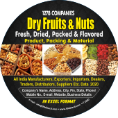 Dry Fruits & NutsDried & Flavored Data