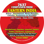 7,637 Eastern India (All Trades)  Data - In Excel Format