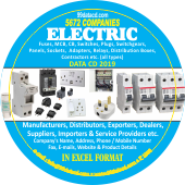 5,672 Electric Fuses, Switches,  MCB, Panels Data - In Excel Format