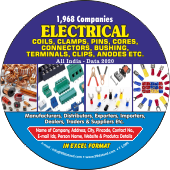 1,968 Electrical Coils,  Clamps,Connectors Data - In Excel Format