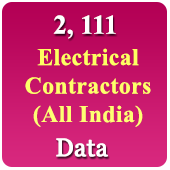 2,111 Electrical Contractors  (All India) Data - In Excel Format