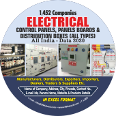 1,452 Electrical Control Panels & Boards Data - In Excel Format