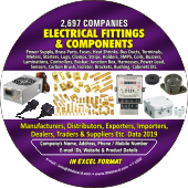 2,697 Electrical Fittings &  Components Data - In Excel Format