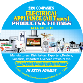 2,391 Electrical Home Appliances  Products Data - In Excel Format