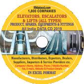 1,800 Elevators, Escalators & Lifts  (All Types) Data - In Excel Format