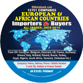 12,751 Importers & Buyers of European & African Countries  Data - In Excel Format