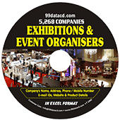 Exhibitions & Event  Organisers (All India) Data