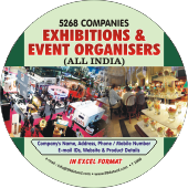 5,268 Exhibitions & Event Organizers  (All India) Data - In Excel Format