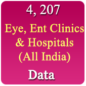 4,207 Eye, Ent Clinic & Hospitals  (All Types - All India) Data - In Excel Format