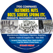 Fasteners, Screws Springs Etc. Data
