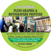 2,144 Flexographic & Rotogravure  Printer Data - In Excel Format