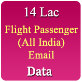 14 Lac Flight Passengers Email Ids Data - In Excel Format
