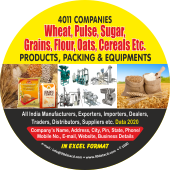 4,011 Flour, Grains, Wheat, Oats & Pulses Data - In Excel Format
