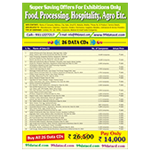 Food, Processing, HospitalityAgro Etc. 26 Data Combo