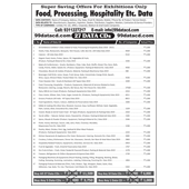 Food, Processing, Hospitality Agro Etc. 26 Data Combos