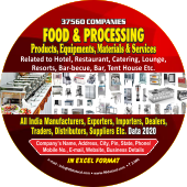 37,560 Food & Processing  Products Data - In Excel Format