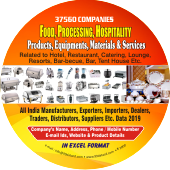 37,560 Food, Processing, Hospitality  Products Data - In Excel Format