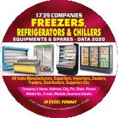 Freezers, Refrigerators & Chillers Equipments & Spares Data 2019