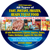 2,420 Frozen, Instant & Ready  to Eat Food Data - In Excel Format