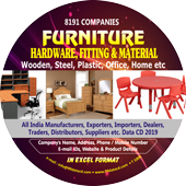 8,191 Furniture, Hardware Fitting & Materials Data - In Excel Format