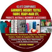 Garments, Hosiery Ready-Made Etc. Data