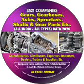 Gears, Gearbox, Axles,  Gear Parts Etc. Data