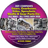 3,521 Gears, Gearbox, Axles  Gear Parts Etc. Data - In Excel Format