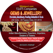 13,475 Gems & Jewellery Products, Machinery, Packing Materials &Tools Data - In Excel Format