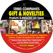 12,880 Gift & Decorative Products & Materials Data - In Excel Format