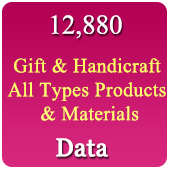 12,880 Gift & Novelties Products & Materials Data - In Excel Format