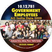 10,12,781 Government Employees (All India) Data - In Excel Format