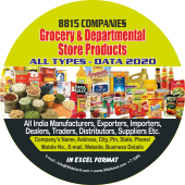 8,815 Grocery Products (All India)  All Types Data - In Excel Format