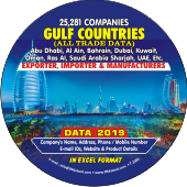 25,281 Gulf Countries Exporters   & Importers Data - In Excel Format