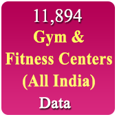 7,740 Gym & Fitness Centers (All India) Data - In Excel Format