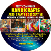 12,577 Handicrafts Arts, Crafts & Decorative Data - In Excel Format