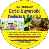 1,516 Herbal & Ayurvedic Products & Materials Data - In Excel Format