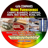 4,616 Home Furnishings, Carpets, Curtains, Mats, Bed Sheets, Rugs Etc. (All India) Data - In Excel Format