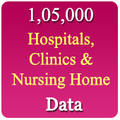 1,05,000 Hospitals, Clinics & Nursing Homes  (All Types - All India) Data - In Excel Format