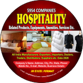 Hospitality Products, EquipmentsAmenities, Services Data