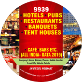 9,939 Hotel, Pubs, Restaurants & Banquet Data - In Excel Format