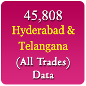 45808 Companies From Hyderabad & Telangana   (All Trades) Data - In Excel Format