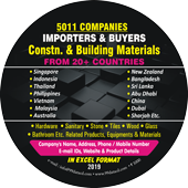 Construction,Building Materials Importer & Buyers 20+ Countries