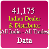 41,175 Indian Dealers & Distributors (All Trades) Data - In Excel Format