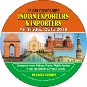 26,035 Indian Exporters & Importers  (All Trades) Data - In Excel Format