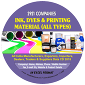 Ink, Dyes & Printing  Material (All Types) Data