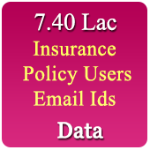 7.40 Lac Insurance Policy Holder Email Ids Data - In Excel Format