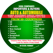 5,096 Importers & Buyers of Auto & Automobile Industry From 50+  Countries - In Excel Format